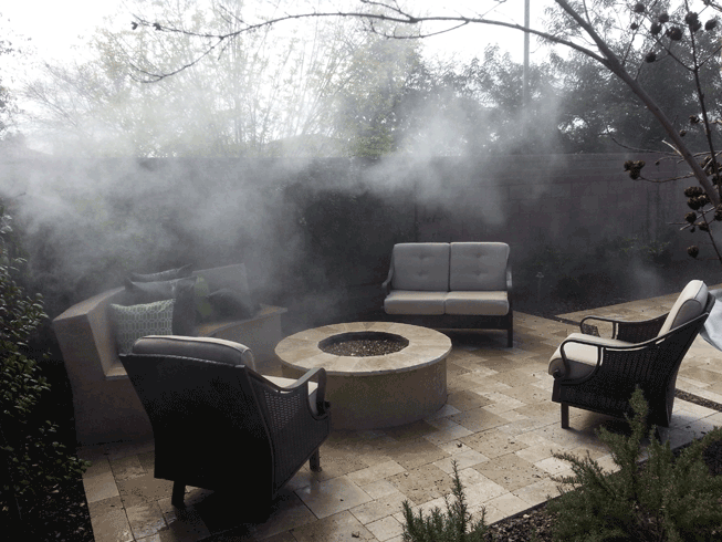 fogging system in shrubs